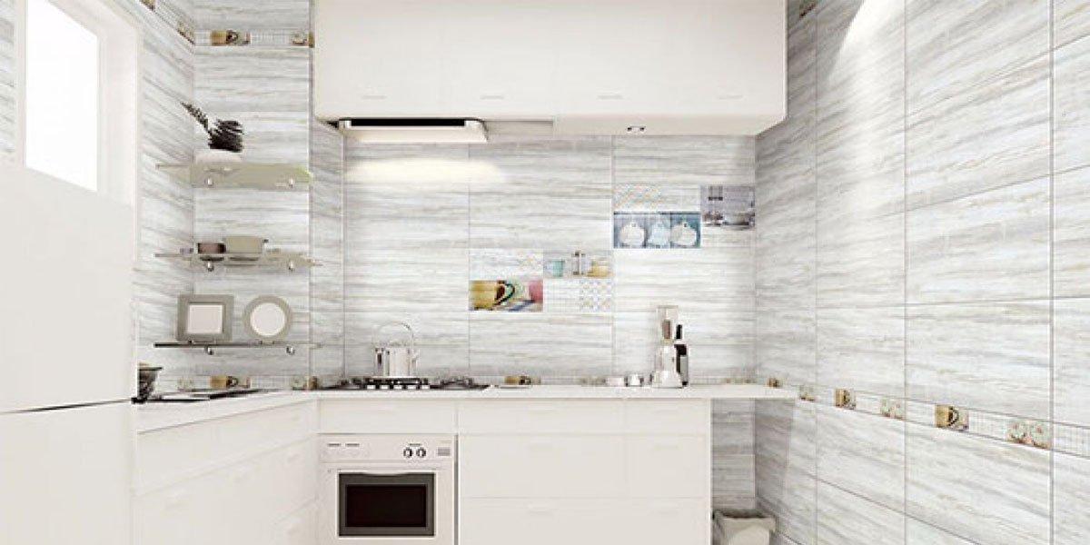 ốp tường nhà bếp theo chiều ngang